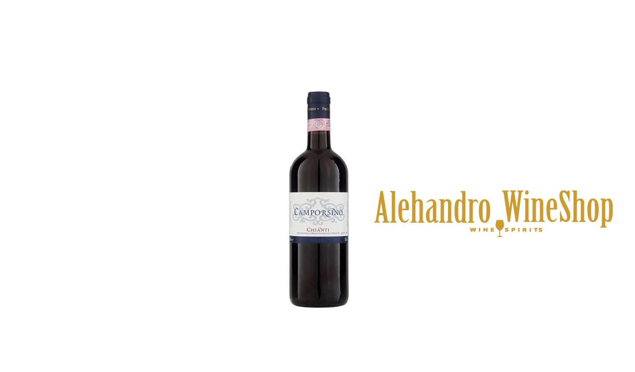 Verë e kuqe, Chianti, zona e prodhimit Itali, varieteti 100 përqind Sangiovanese, alkool 12.5, volumi 0,375 l