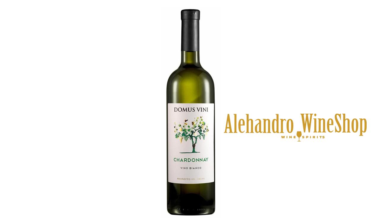 Verë e bardhë, kantina Domus Vini, zona e prodhimit Itali, varieteti Chardonnay, alkool 12.5, volumi 0,75 l