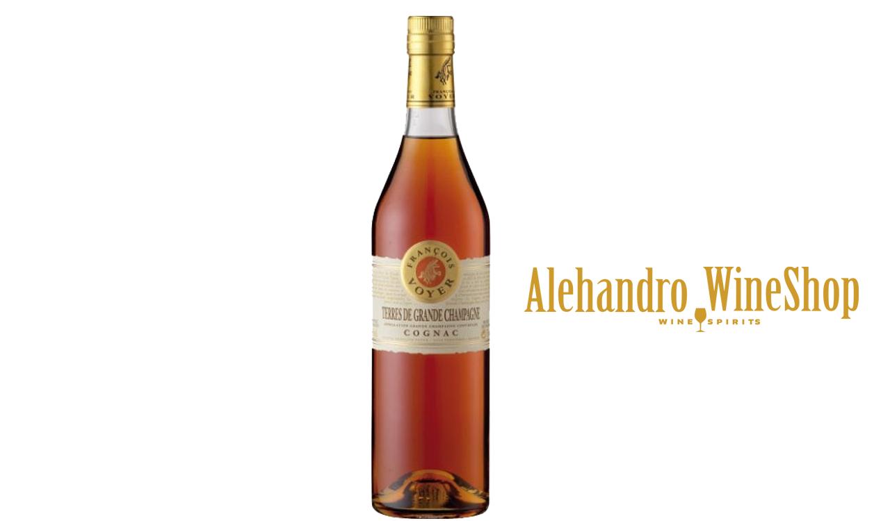 Spirits, kantina Francois Voyer, zona e prodhimit Francë, varieteti 100 përqind Grand Champagne, alkool 40, volumi 70 cl