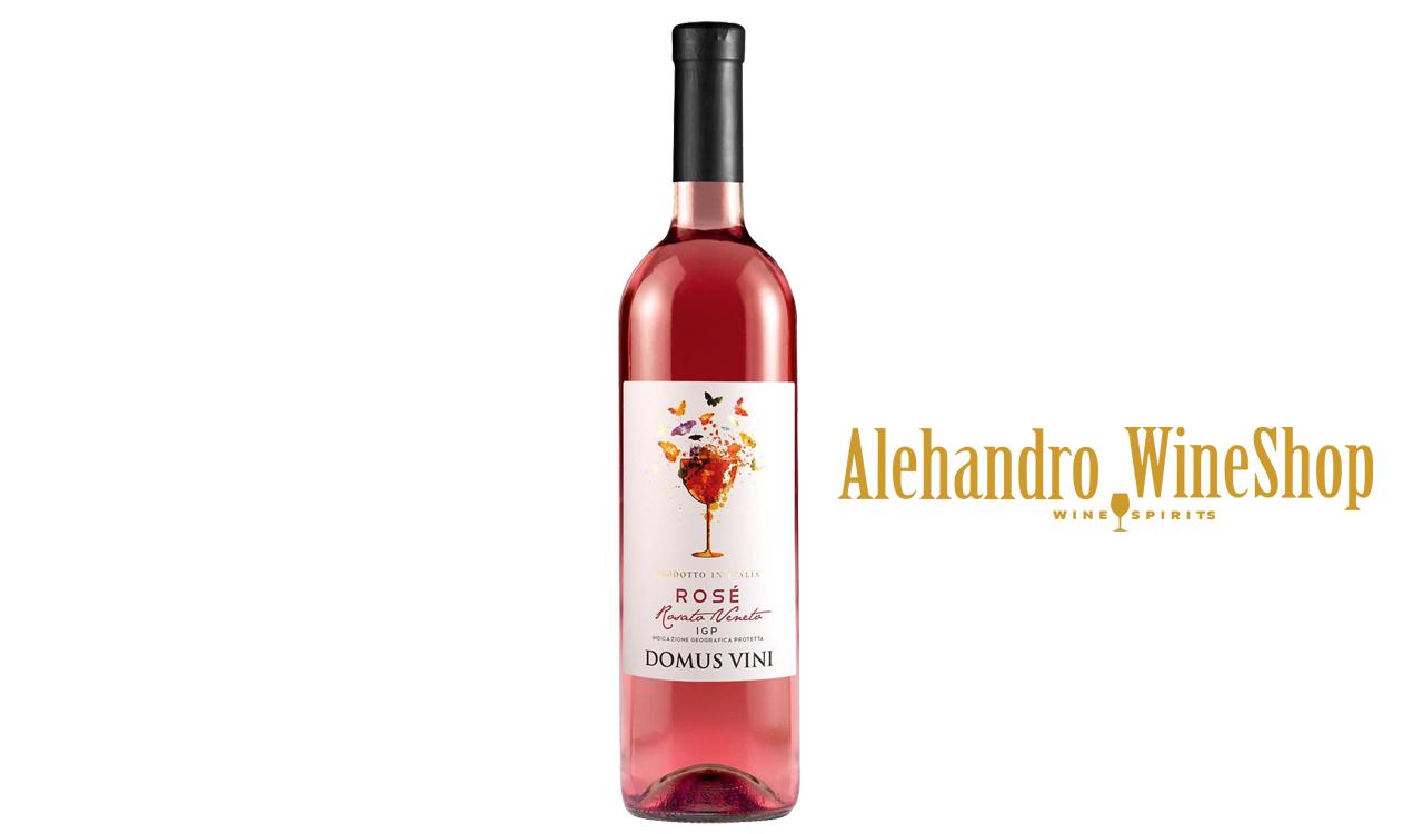 Verë rose, kantina Domus Vini, zona e prodhimit Itali, alkool 12.5, volumi 0,75 l