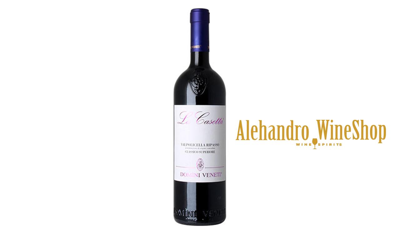 Verë e kuqe, kantina Domini Event, Negar, zona e prodhimit Itali, varieteti 65 përqind Corvina, 20 përqind Rondinella, 15 përqind Corvinone, alkool 13.5, volumi 0,75 l