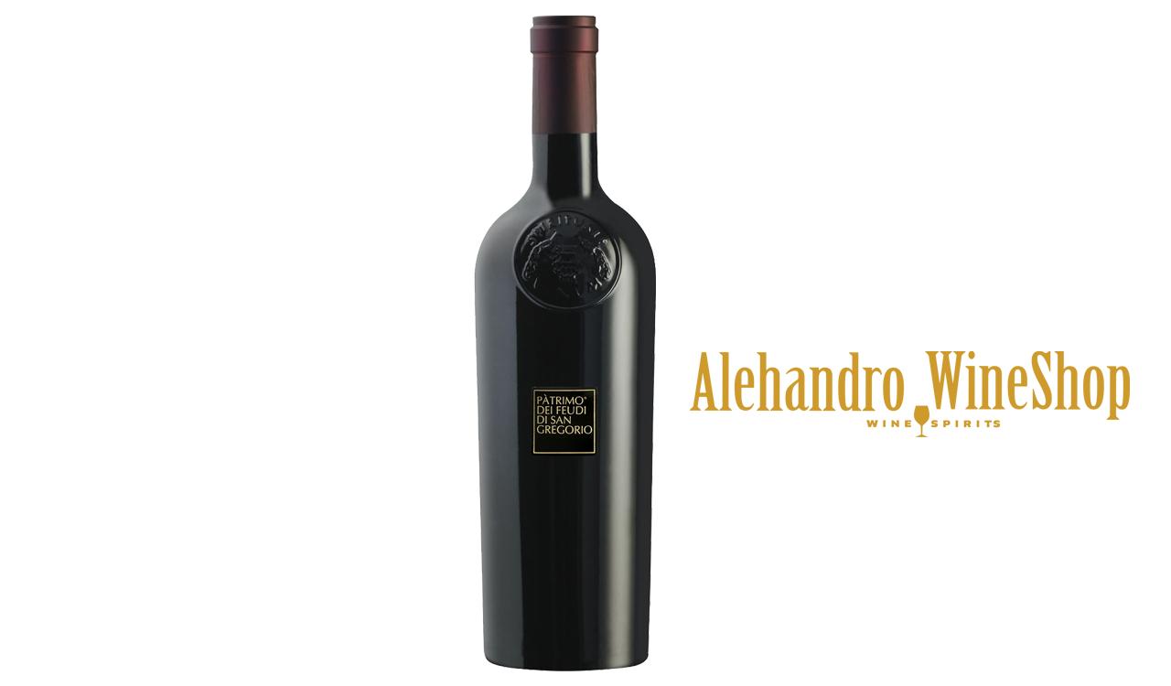 Verë e kuqe, kantina Feudi Di San Gregori, zona e prodhimit Campagnia, Itali, varieteti Primitivio di manduria, alkool 13.5, volumi 0,75 l