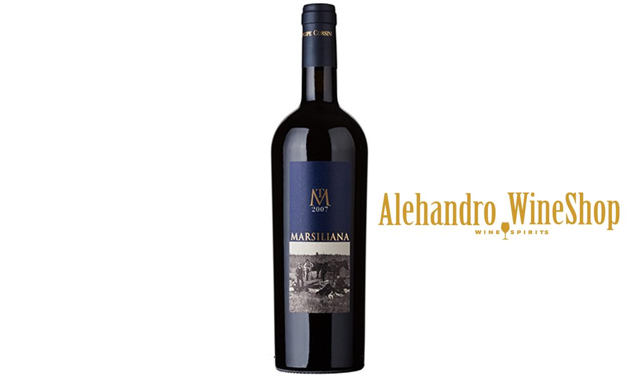 Verë e kuqe, Principe Corsini, zona e prodhimit Itali, Toscana, varieteti Bordeaux Blend Red, alkool 14,5, volumi 0,75 l