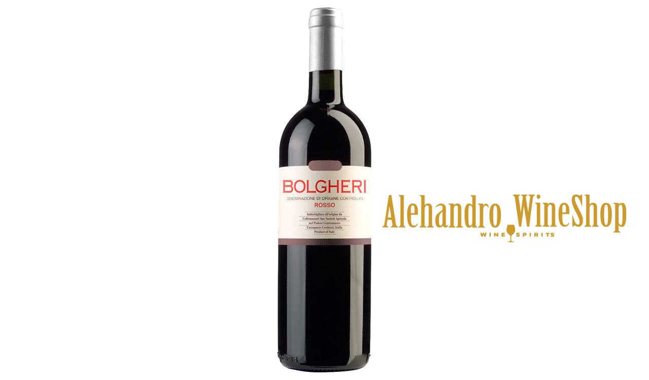 Verë e kuqe, kantina Grattamacco, zona e prodhimit Provinca e Livornos, Itali, varieteti 60 përqind Cabernet Sauvignon, 20 përqind Cabernet Franc, 10 përqind Merlot dhe 10 përqind Sangiovanese, alkool 13.5, volumi 0,75 l
