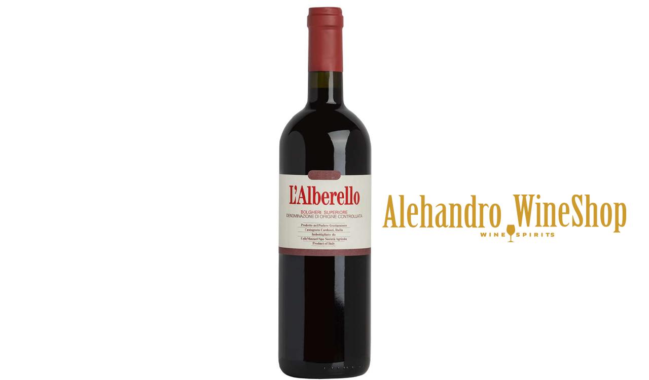 Verë e kuqe, Grattamacco, zona e prodhimit Toscana, Itali, varieteti 70 përqind Cabernet Sauvignon, 25 përqind Cabernet Franc, 5 përqind Petit Verdot, alkool 14, volumi 0,75 l
