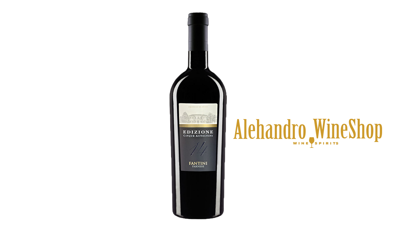Verë e kuqe kantina Farnese, zona e prodhimit Itali, varieteti 33 përqind Montepulciano, 30 përqind Primitivo, 25 përqind Sangiovese, 7 përqind Negroamaro dhe 5 përqind Malvasia Nera, alkool 14, volumi 0,75 l