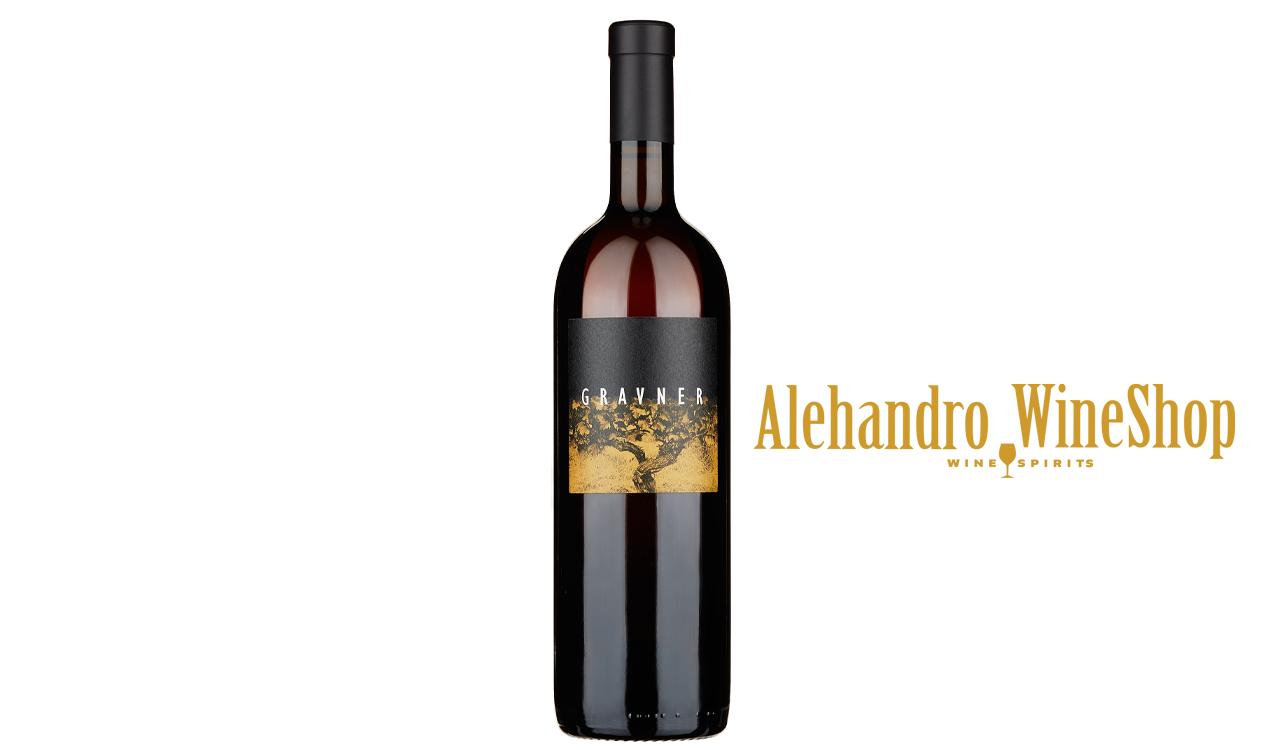 Verë e kuqe, Gravner, zona e prodhimit Itali, varieteti Ribolla Gialla 100 përqind, alkool 15.5,  volumi 0,75 l