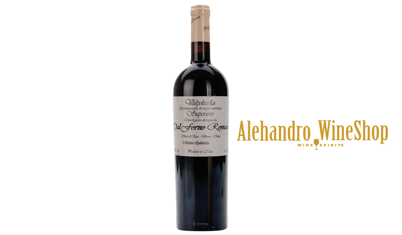Verë e kuqe, Dal Forno Romano, zona e prodhimit Veneto Itali, varieteti Valpolicella Blend, alkool 15.5,  volumi 0,75 l