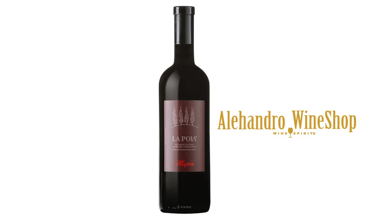 Verë e kuqe, Allegrini, zona e prodhimit Itali, varieteti Corvina Veronese, alkool 14.5, volumi 0,75 l
