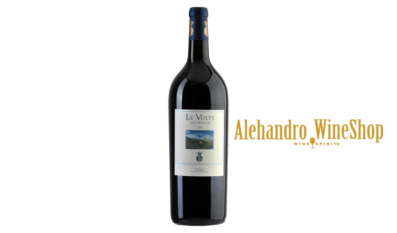 Verë e kuqe, kantina Tenute Di Ornellaia, zona e prodhimit Bolgheri, Toscana, Itali, varieteti Cabernet Sauvignon, Merlot dhe Sangiovese, alkool 13,5, volumi 0,75 l