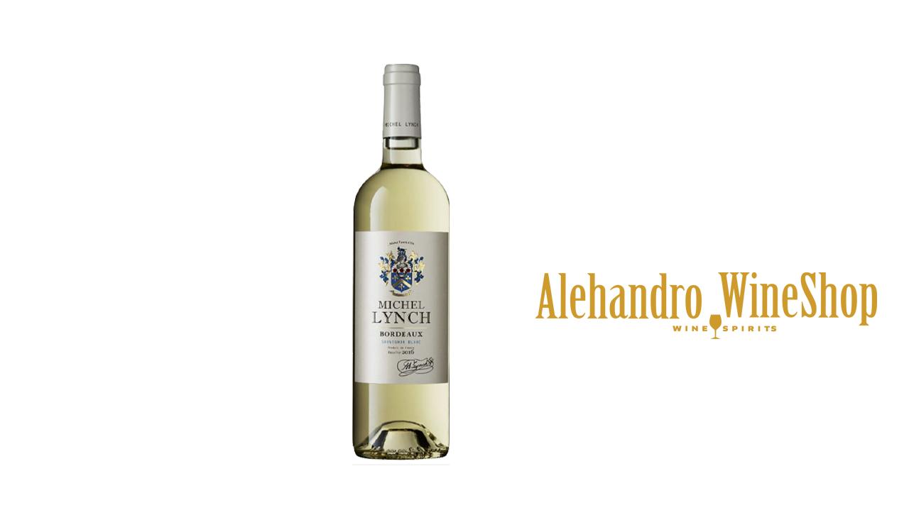 Verë e bardhë Lynch, zona e prodhimit, Francë Bordeaux, varieteti 100 përqind Sauvignon, alkool 12, volumi 0,335 l