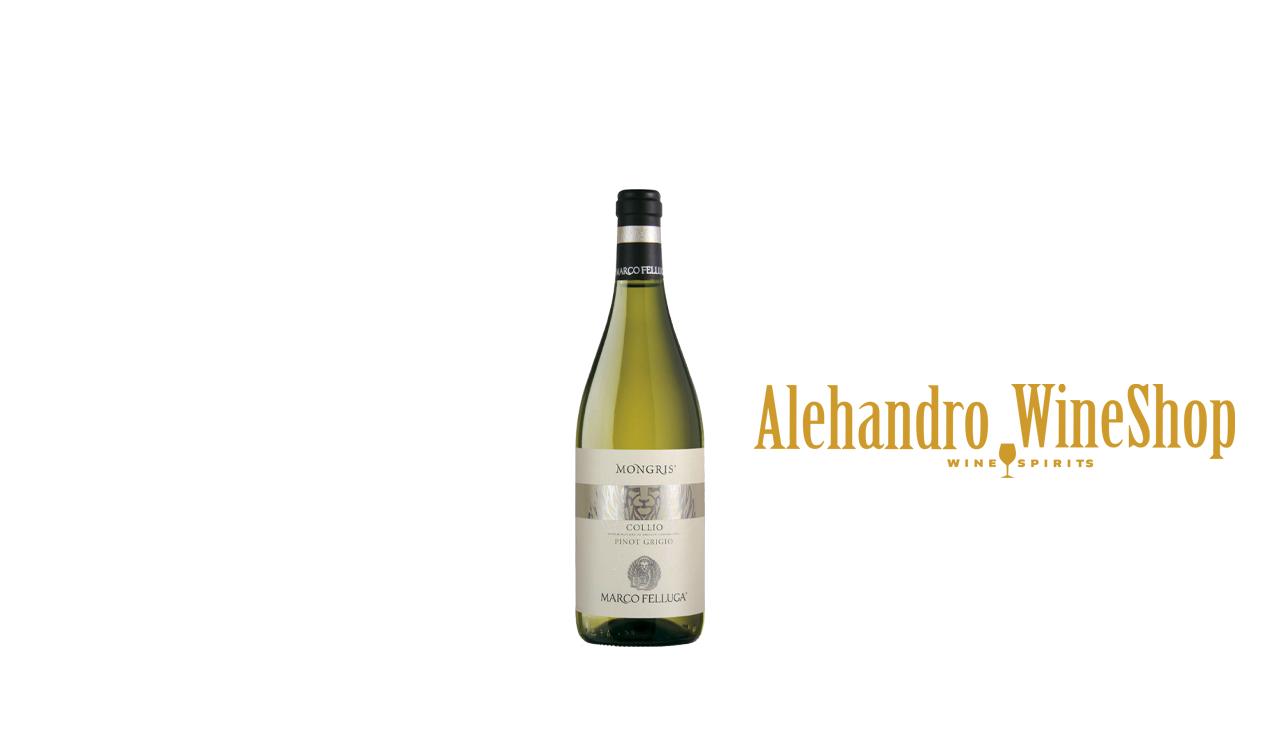 Verë e bardhë, Marco Felluga, zona e prodhimit  Itali ,varieteti 100 përqind, Pinot Grigio, alkool 13.5, volumi 0,375 l