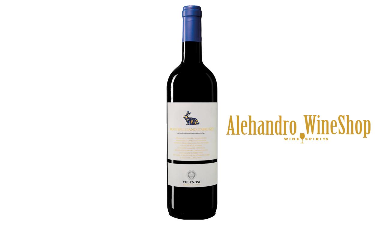 Verë e kuqe, kantina Velenosi, zona e prodhimit Marche, Itali, varieteti Montepulciano, alkool 13, volumi 0,75 l