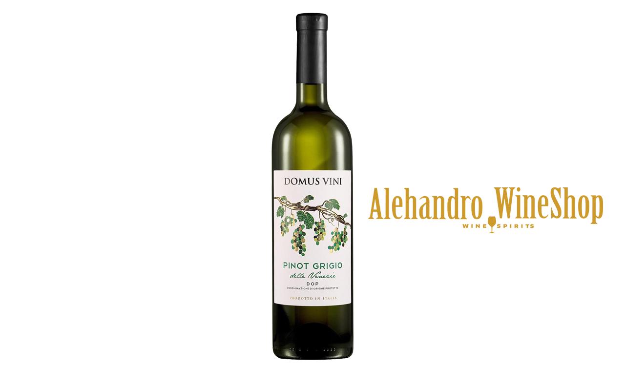 Verë e bardhë, kantina Domus Vini,  zona e prodhimit Itali, varieteti Pinot Grigio, alkool 12.5, volumi 0,75 l