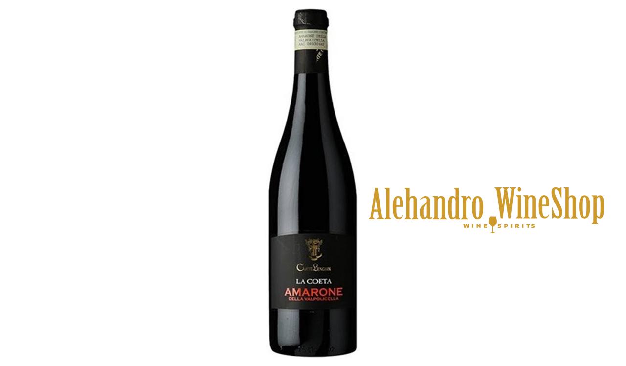 Verë e kuqe, kantina Corte Lenguin, zona e prodhimit Veneto, Itali, varieteti Corvina, Rondinella, Molinara, alkool 16, volumi 0,75 l