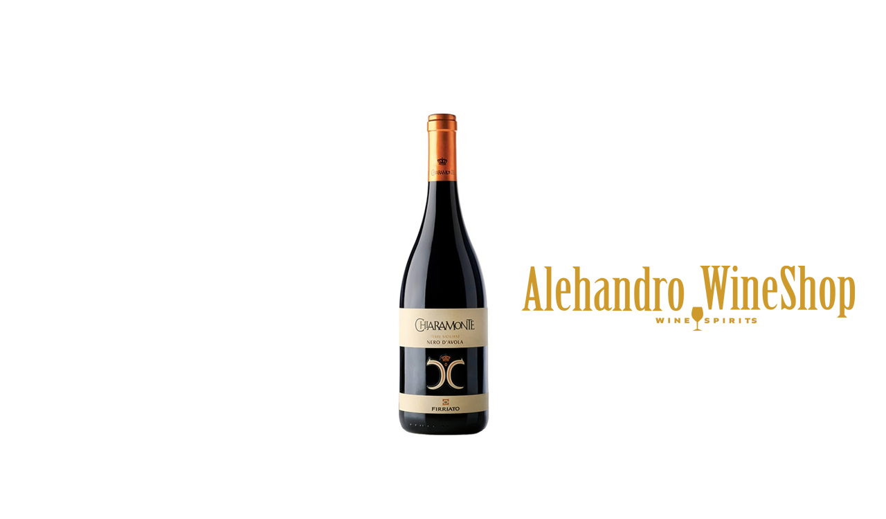 Verë e kuqe Firriato, zona e prodhimit Sicili, Itali, varieteti Nero Davola, alkool 14, volumi 0,5 l