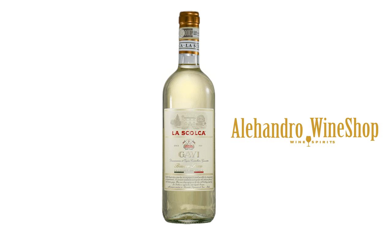 Verë e bardhë, La Scolca, zona e prodhimit Piemonte Itali, varieteti Cortese, alkool 13.5, volumi 0,75 l
