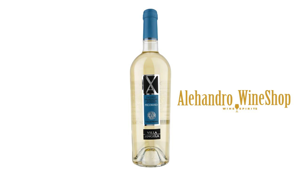 Verë e bardhë, kantina Velenosi, zona e prodhimit Marche Itali, varieteti Pecorino, alkool 12.5, volumi 0,75 l