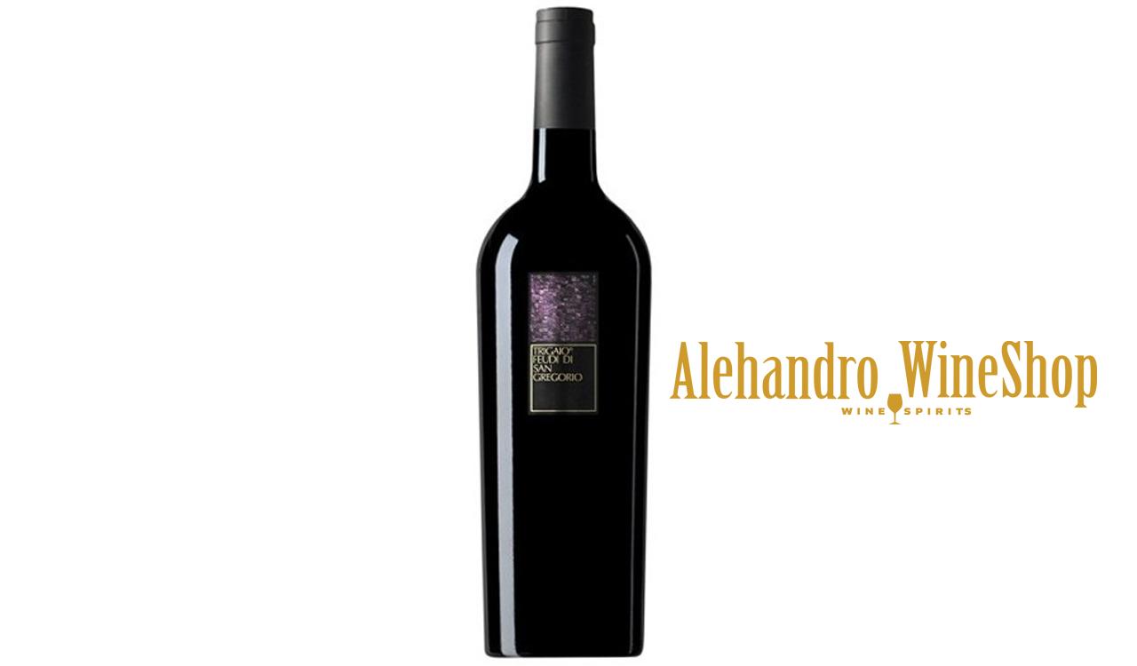 Verë e kuqe, Feudi di San Gregorio, zona e prodhimit Itali, varieteti Aglianico, alkool 14, volumi 0,75 l