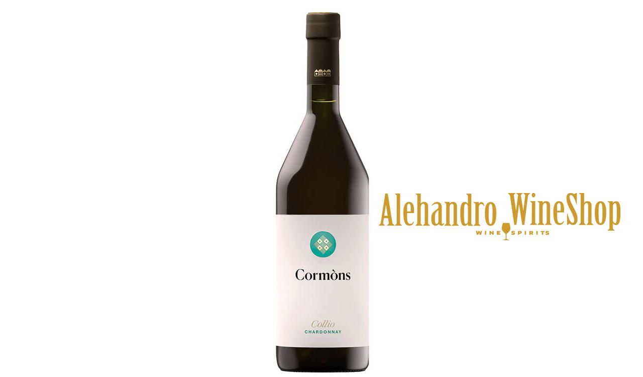 Verë e bardhë, kantina Cormons, zona e prodhimit Delle Venezie, varieteti Chardonnay, alkool 13, volumi 0,75 l