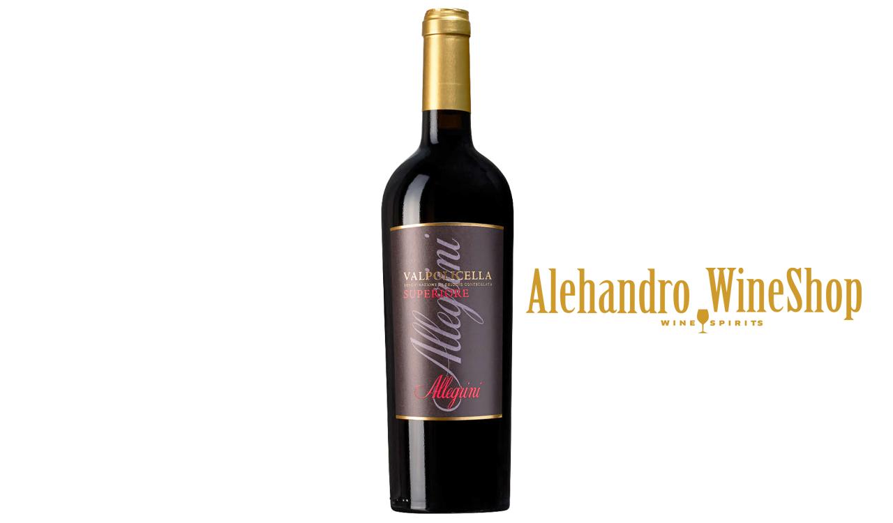 Verë e kuqe, Allegrini, zona e prodhimit Veneto Itali, varieteti Valpolicella DOC, alkool 13, volumi 0,75 l