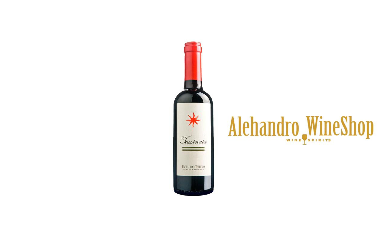 Verë e kuqe, Castello del Terriccio, zona e prodhimit Toscana Itali, varieteti Cabernet, Merlot, Sangiovese, alkool 13, volumi 0,375 l