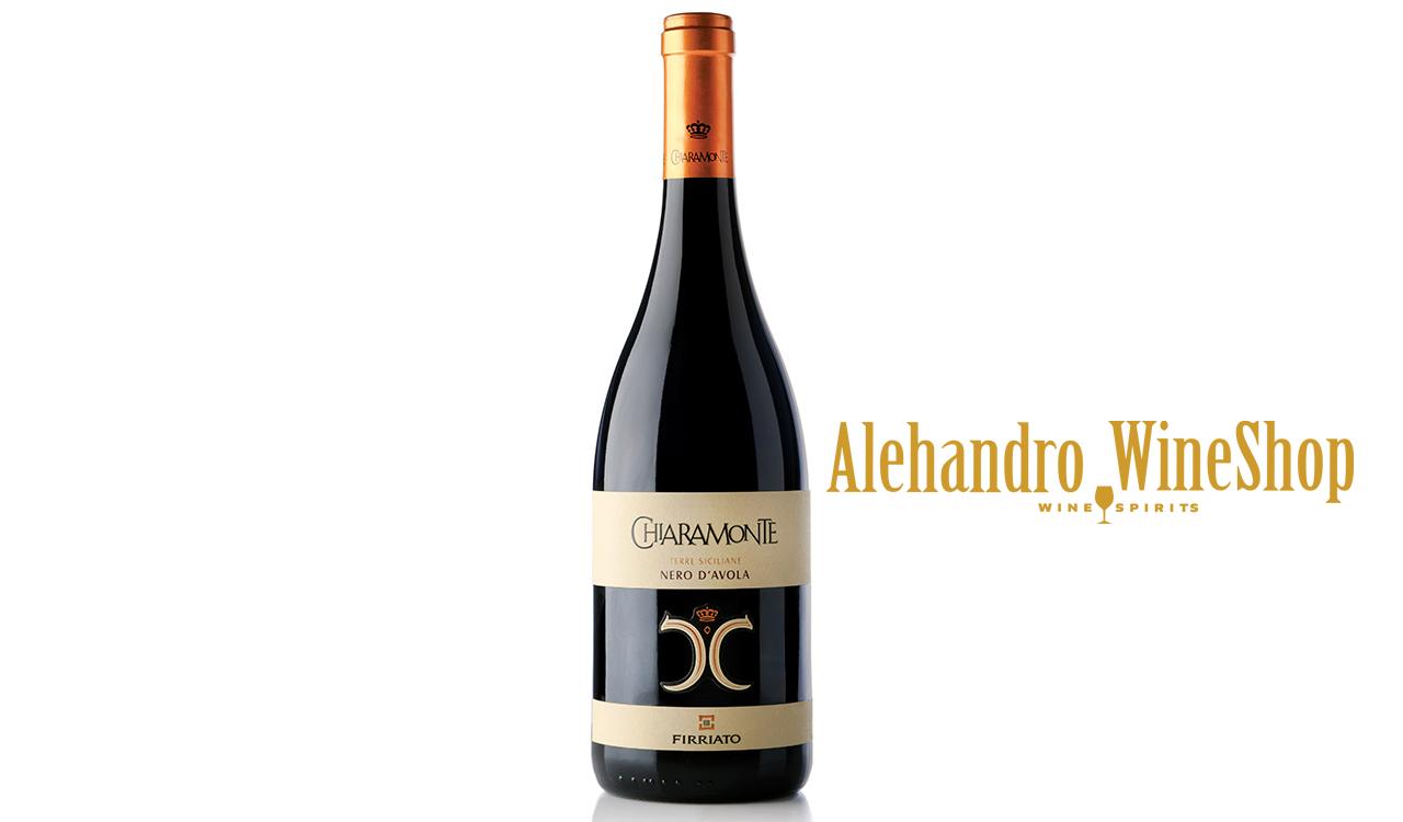 Verë e kuqe, kantina Firriato, zona e prodhimit Sicili, Itali, varieteti Nero Davola, alkool 14, volumi 0,75 l