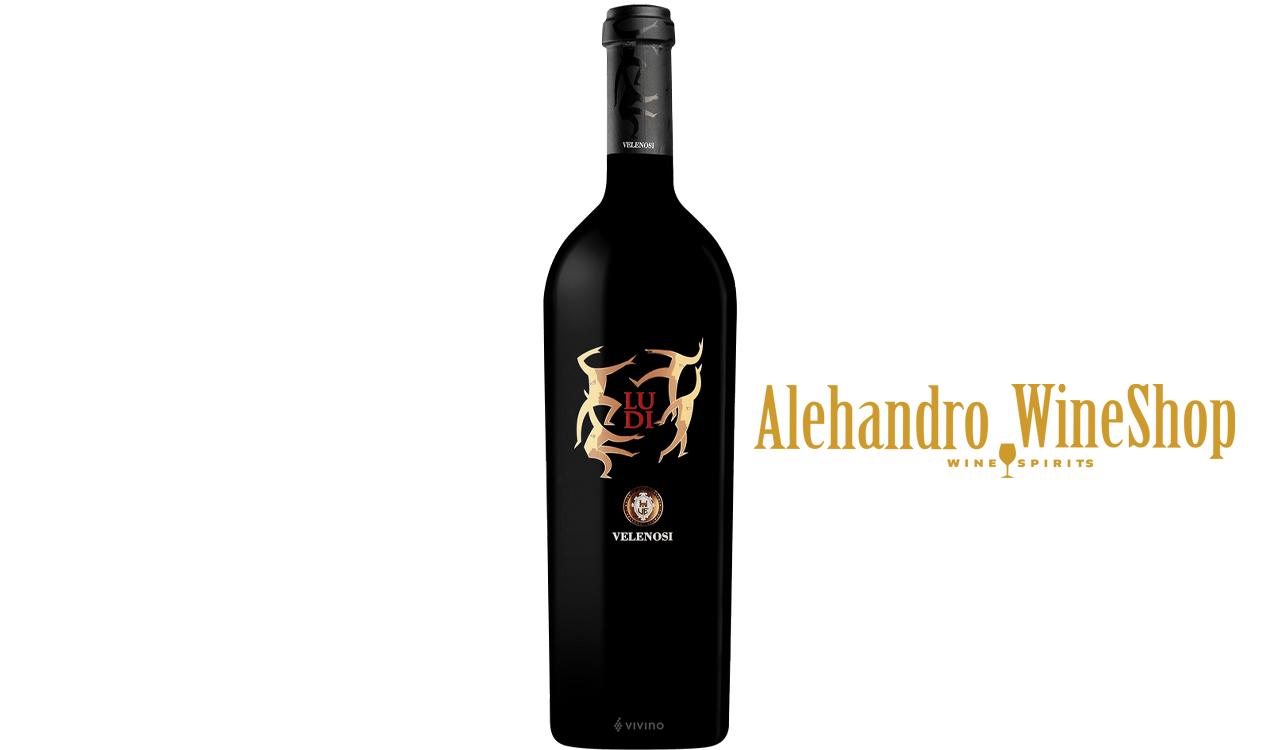 Verë e kuqe, Velenosi, zona e prodhimit Marche, Itali, varieteti Montepulciano, Cabernet Sauvignon, Merlot, Shiraz, alkool 14.5,  volumi 0,75 l