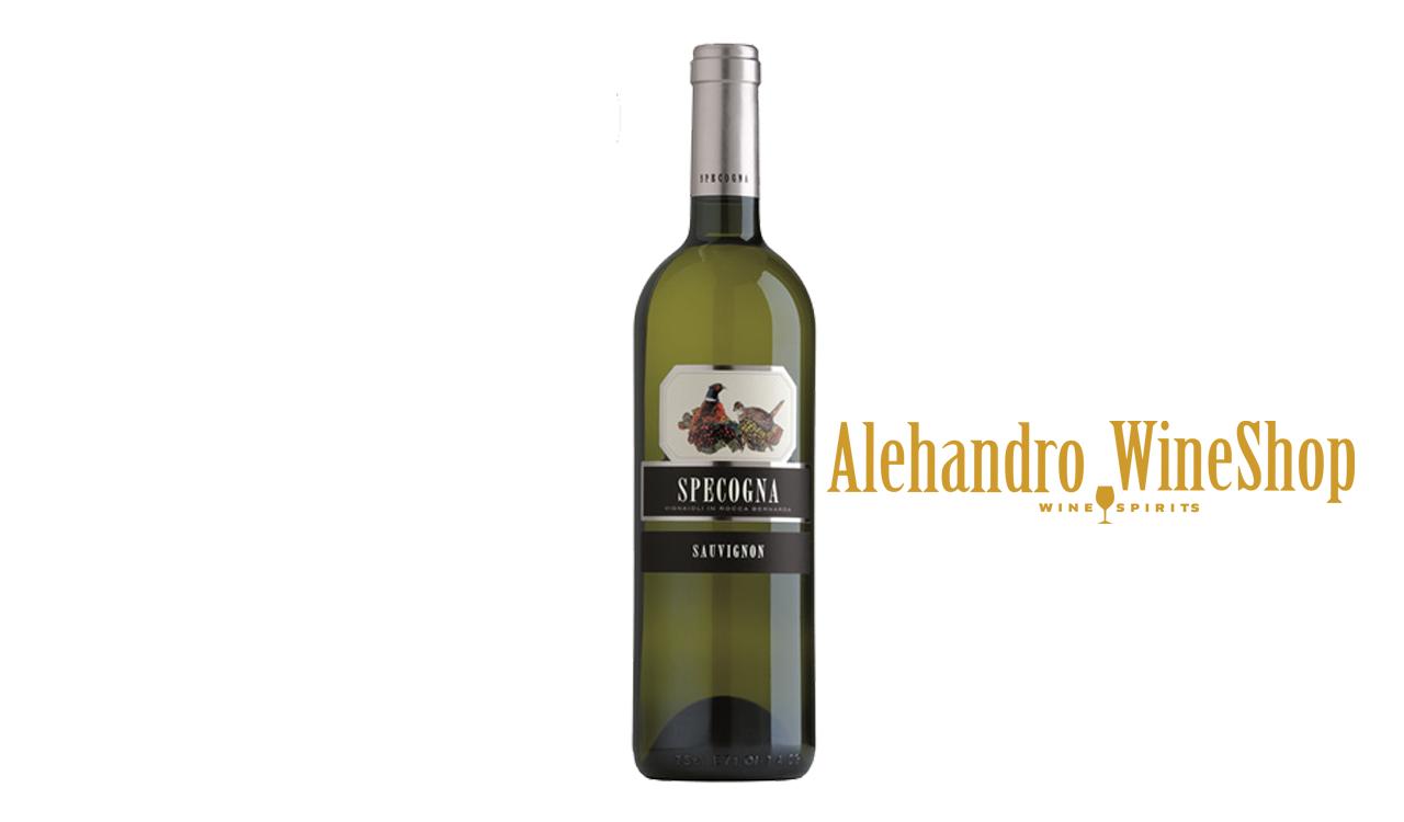 Verë e bardhë, kantina Specogna, zona e prodhimit Friuli Itali, varieteti  Sauvignon Blanc alkool 13, volumi 0,75 l