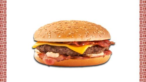 Buke me susam, salce Bacon,  hamburger mish vici, feteza bacon, djathë merlinger