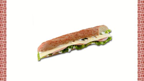 Baget e bardhë, salcë e bardhë, sallatë jeshile, djathë e menthal, proshutë zampon