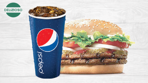 Burger double XL dhe pepsi