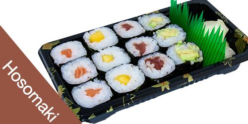 3 sake maki, 3 maguro maki, 3 mango maki, 3 kappa maki,Xhinxher,Salce Soje