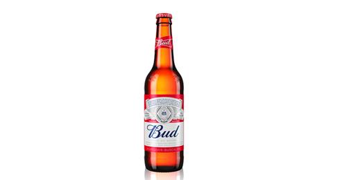 Bud birrë bjonde shishe 0.33l