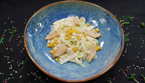 Fileto pule e pjekur, kruton me trumes dhe misër