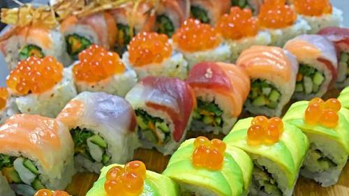 Ikura, beef, nigiri, sashimi, top up, king crab