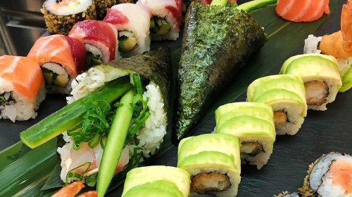 Panko, top up, rainbow, temaki, gunkan