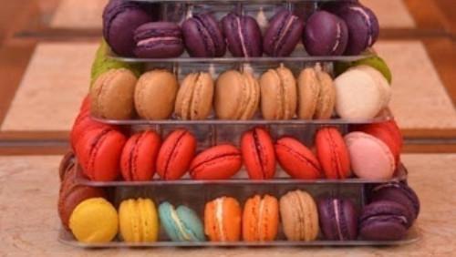 Macaron me shije çokollatë,pistakio,karamel,trëndafil, luleshtryde, violet, mente, kafe, limon, portokall