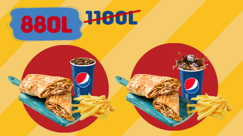 2 twister menu ( 2 twister, 2 french fries, 2 pepsi )