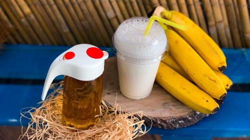 Qumësht, banane, avokado, mjaltë