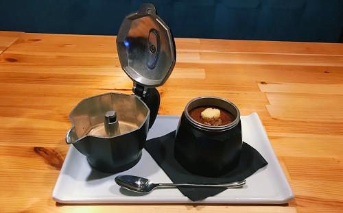 Tiramisu në moka me kafe napolitane kimbo