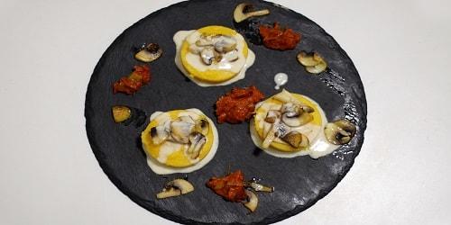 Me kërpudha dhe krem djathi
