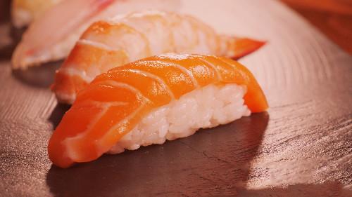 Oriz, salmon