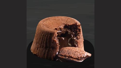 Sufle me çokollatë të zezë dhe akullore
