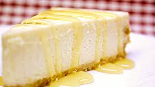 Cheese cake me mjaltë lulesh
