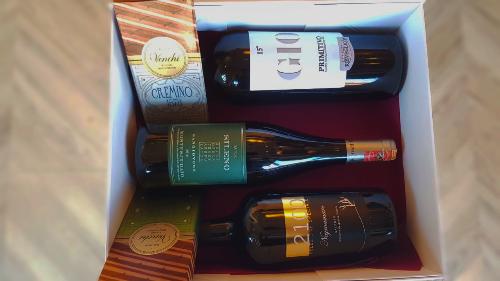 Paketim, Negroamaro Speciale, GIO15 Primitivo, Sileno Sangiovese, Produkt Ushqimor
