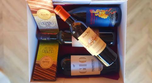 Paketim, Brunello MNTC Gaya, Sul Vulcano D.F, GIO15 Primitivo, Ben Rye D.F, Produkt Ushqimor