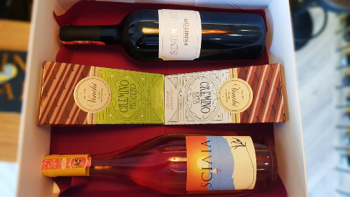 Paketim, Simposio Primitivo, Sciaia Rosato, Produkt Ushqimor