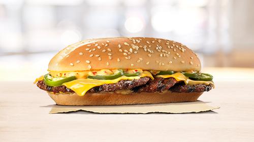 XTRA long chilli cheese burger